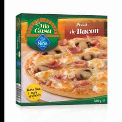 Pizza de bacon al horno de...