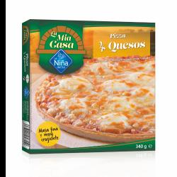 Pizza 4 quesos al horno de...