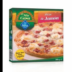 Pizza de jamón y queso al...