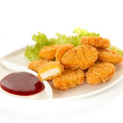 Nuggets de pollo rebozados