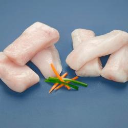 Lomos de merluza sin piel