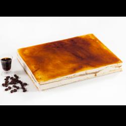 Tarta plancha de café y orujo