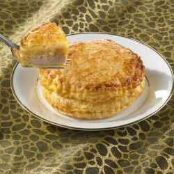 Hojaldre de foie con manzana