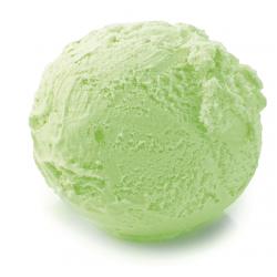 Helado de manzana verde