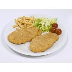 Pechuga de pollo empanada