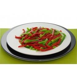 Pimiento rojo y verde en tiras