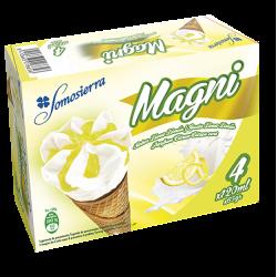 Helado cono de limón