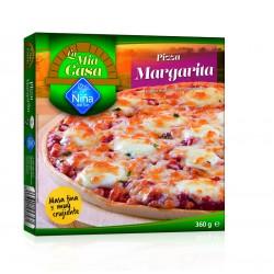 Pizza margarita al horno de...