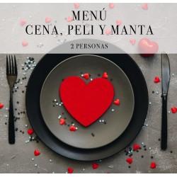 """MENÚ """"CENA, PELI Y MANTA"""""""