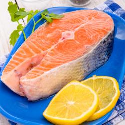 Rodaja de salmón keta